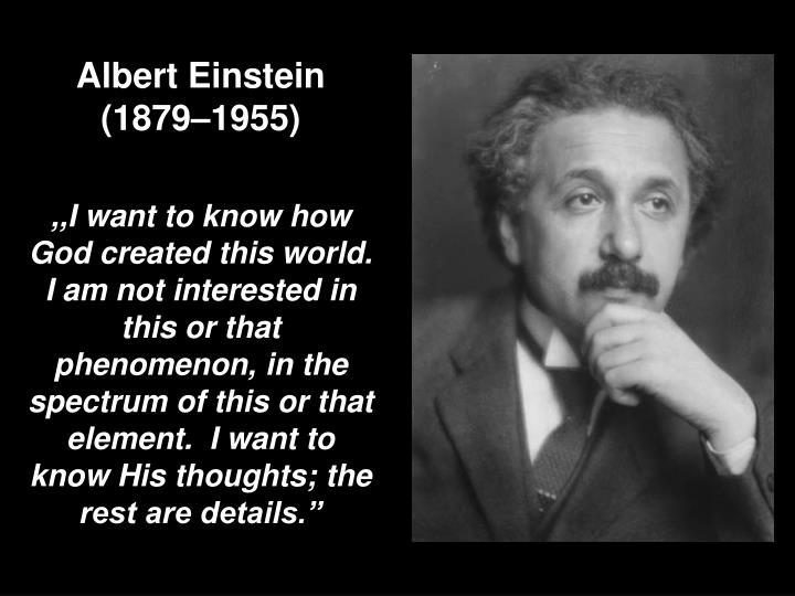 Albert Einstein (18791955)