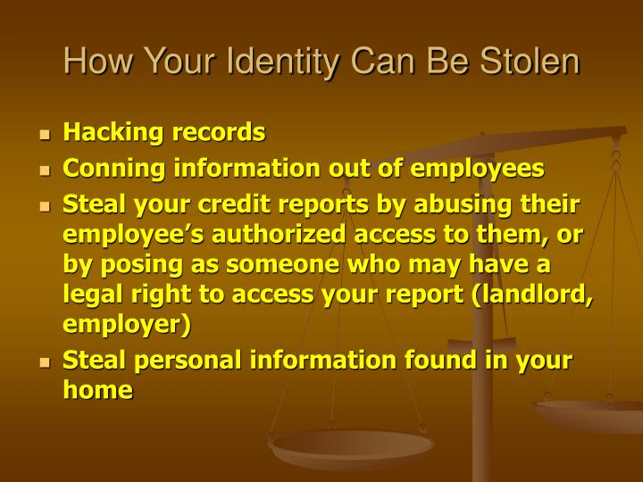 How Your Identity Can Be Stolen