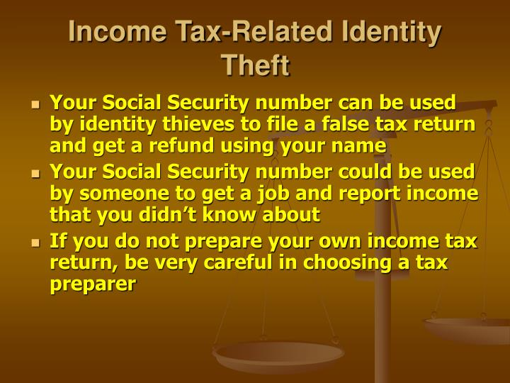 Income Tax-Related Identity Theft