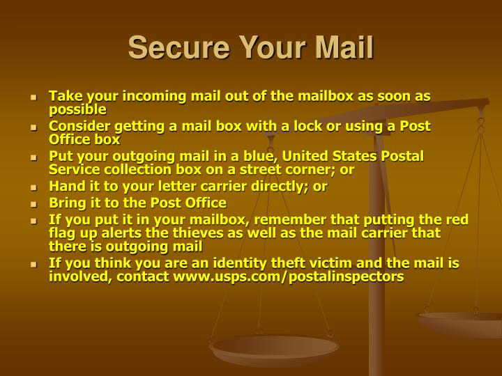 Secure Your Mail