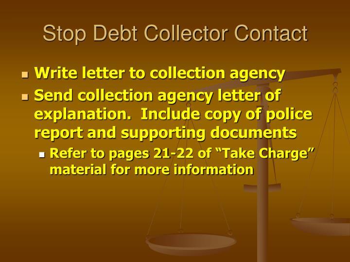 Stop Debt Collector Contact
