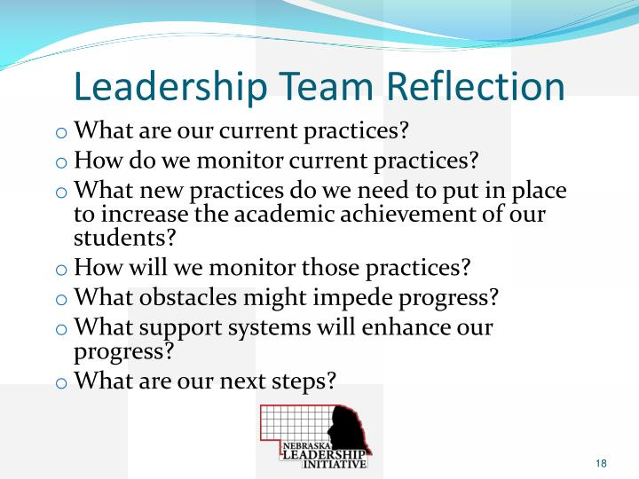 Leadership Team Reflection