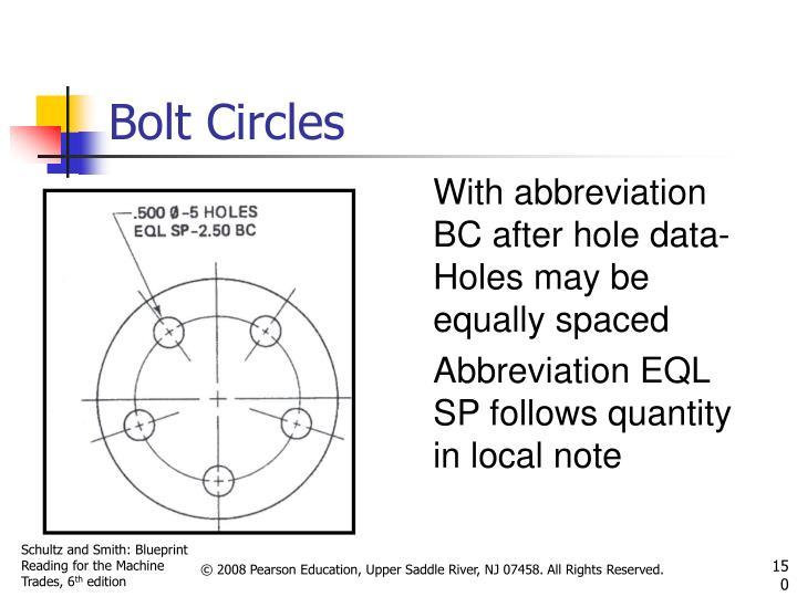 Bolt Circles