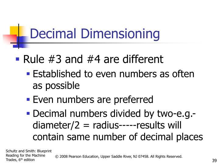 Decimal Dimensioning