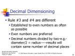 decimal dimensioning7