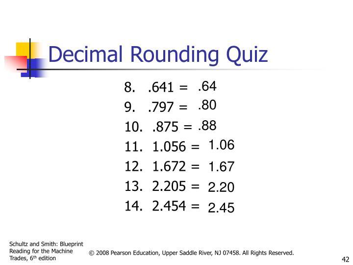 Decimal Rounding Quiz