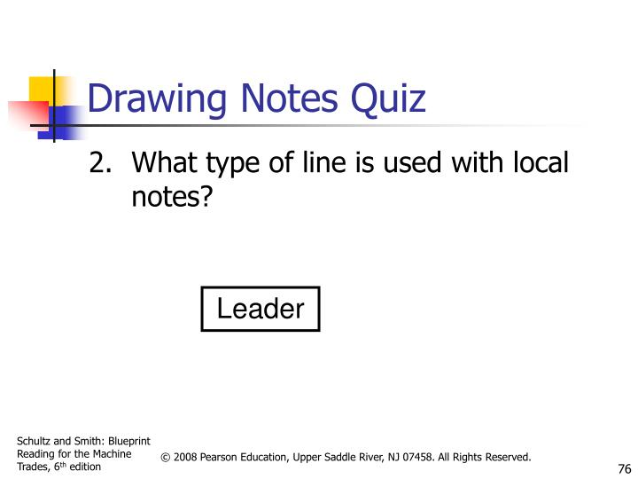 Drawing Notes Quiz