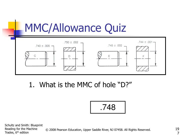 "What is the MMC of hole ""D?"""