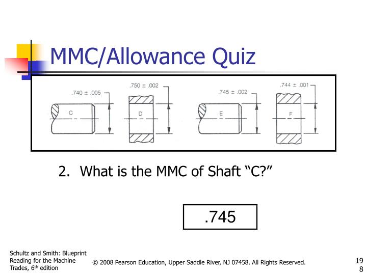 "What is the MMC of Shaft ""C?"""