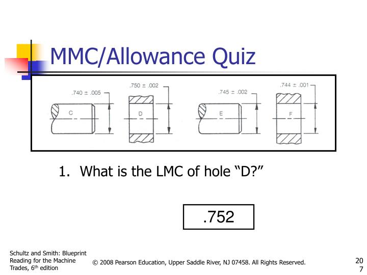 "What is the LMC of hole ""D?"""