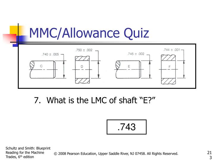 "What is the LMC of shaft ""E?"""