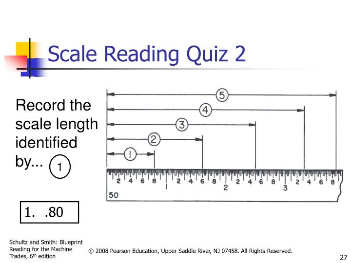 Scale Reading Quiz 2