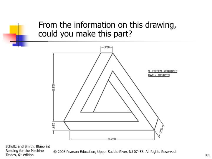From the information on this drawing, could you make this part?