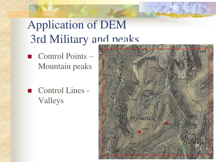 Control Points – Mountain peaks