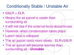 conditionally stable unstable air1