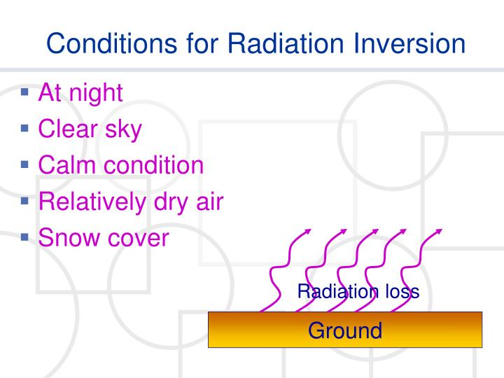 Conditions for Radiation Inversion