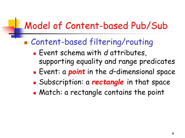 Model of Content-based Pub/Sub