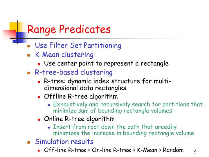 Range Predicates