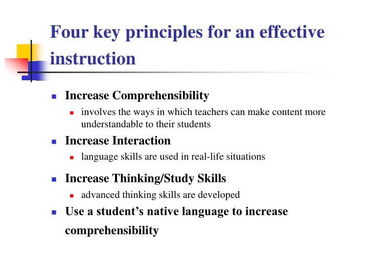 Four key principles