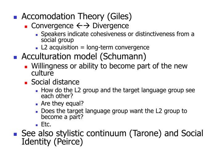 Accomodation Theory (Giles)