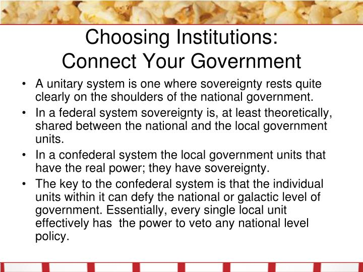 Choosing Institutions: