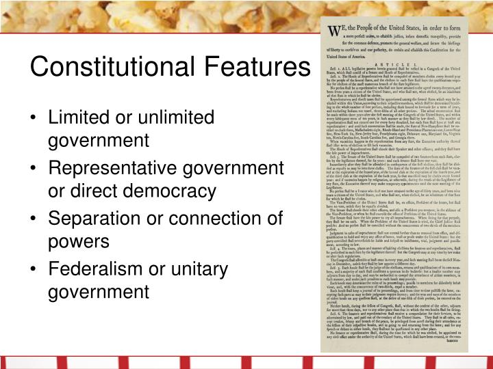 Constitutional Features