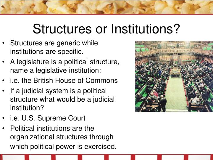 Structures or institutions