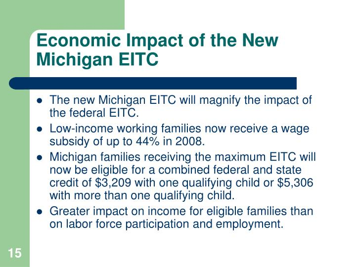 Economic Impact of the New Michigan EITC