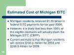 estimated cost of michigan eitc