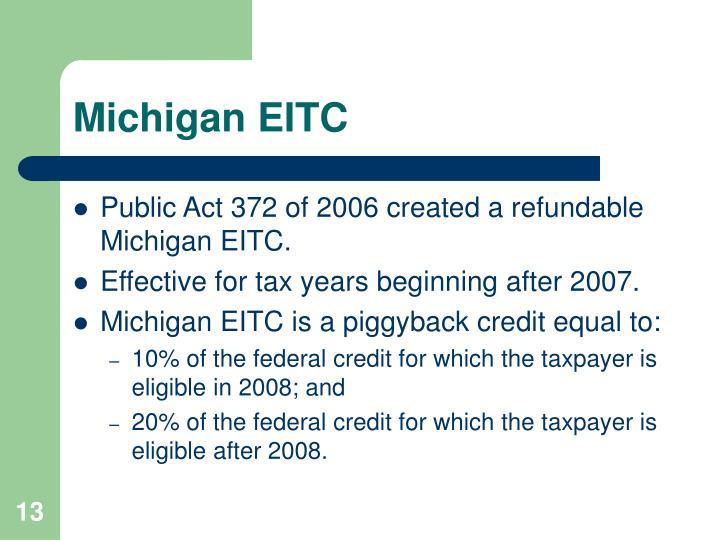 Michigan EITC