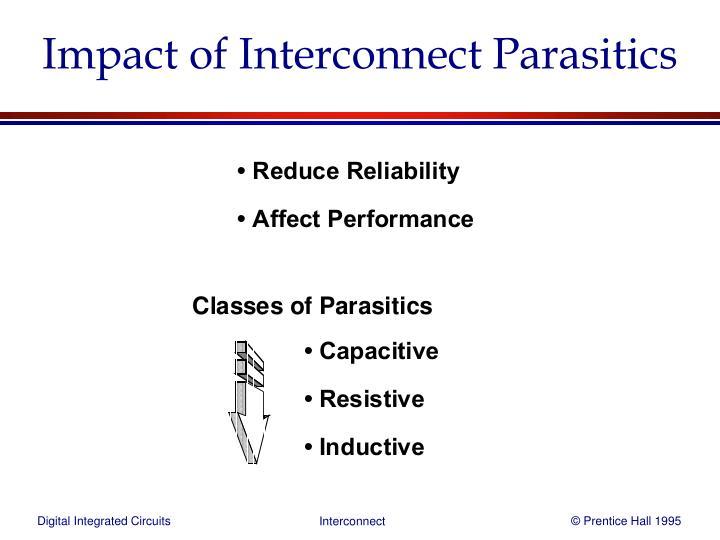 Impact of Interconnect Parasitics