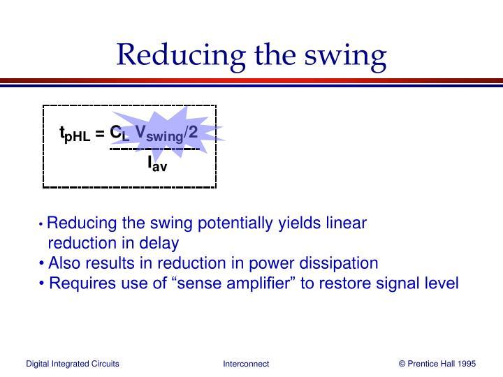 Reducing the swing