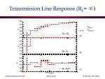transmission line response r l