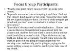 focus group participants