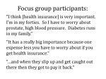 focus group participants1
