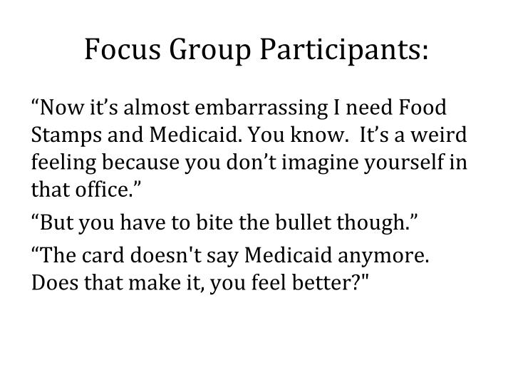 Focus Group Participants: