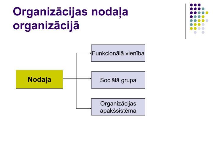 Organizācijas nodaļa organizācijā