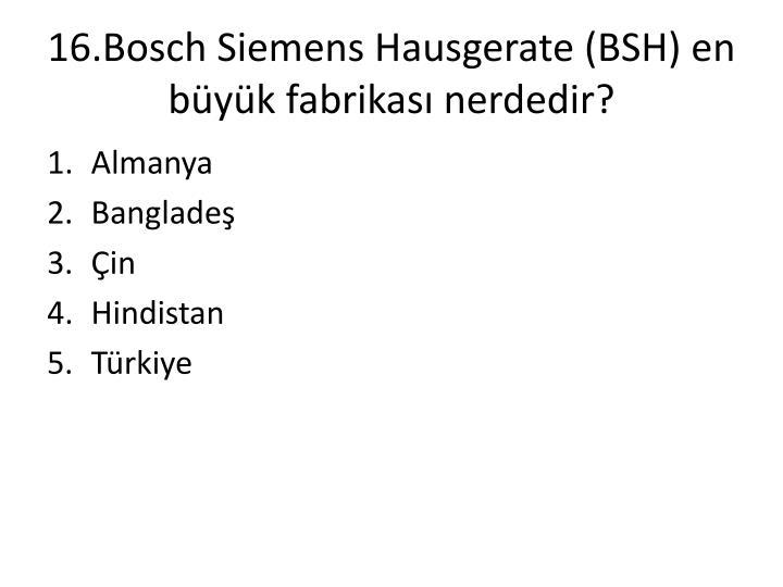 16.Bosch Siemens