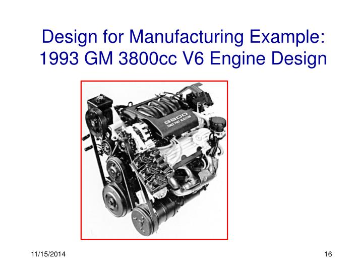 Design for Manufacturing Example: