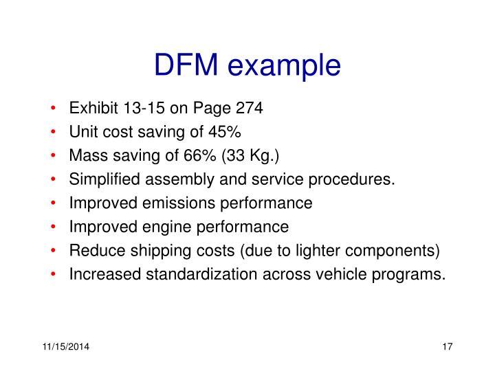 DFM example