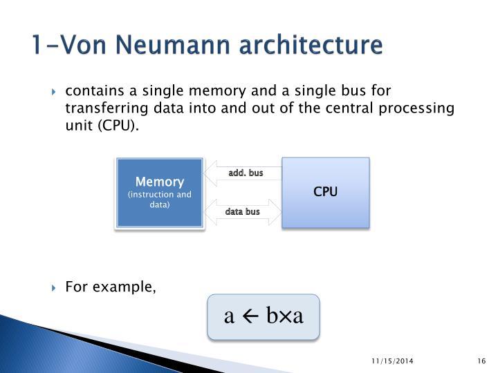 1-Von Neumann architecture