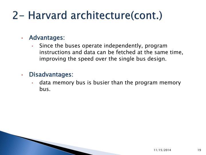 2- Harvard architecture(cont.)