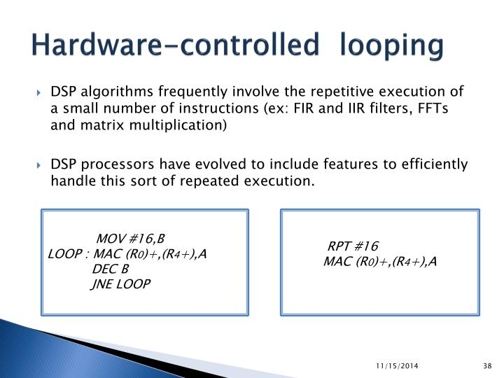 Hardware-controlled  looping