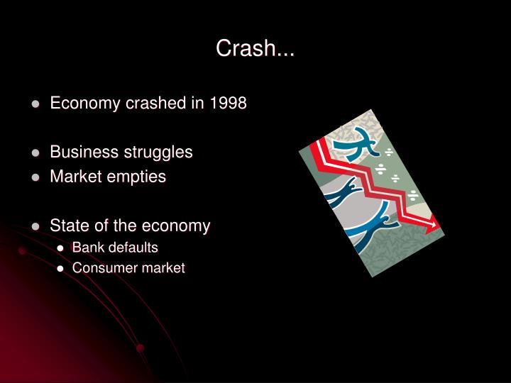 Crash...