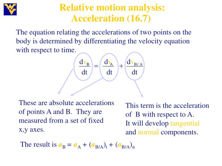 Relative motion analysis: