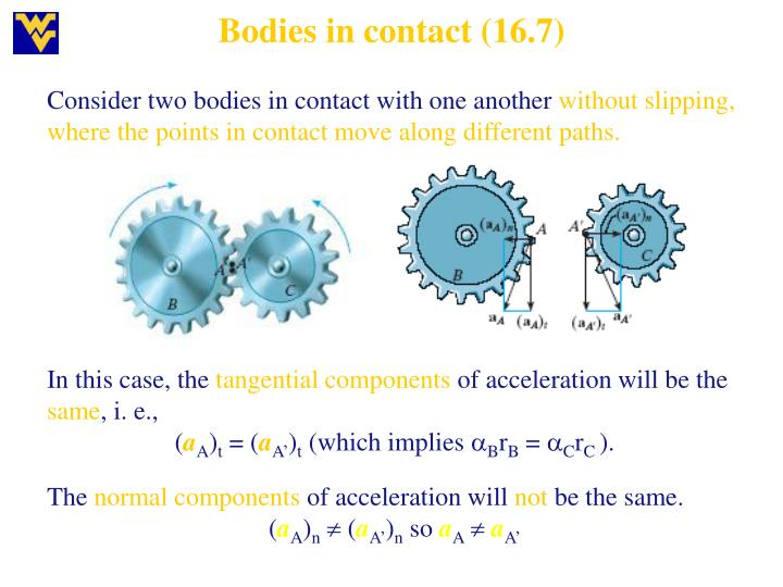 Bodies in contact (16.7)