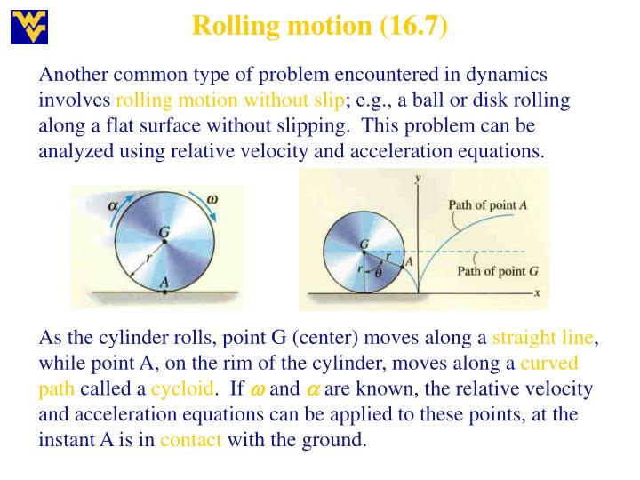 Rolling motion (16.7)