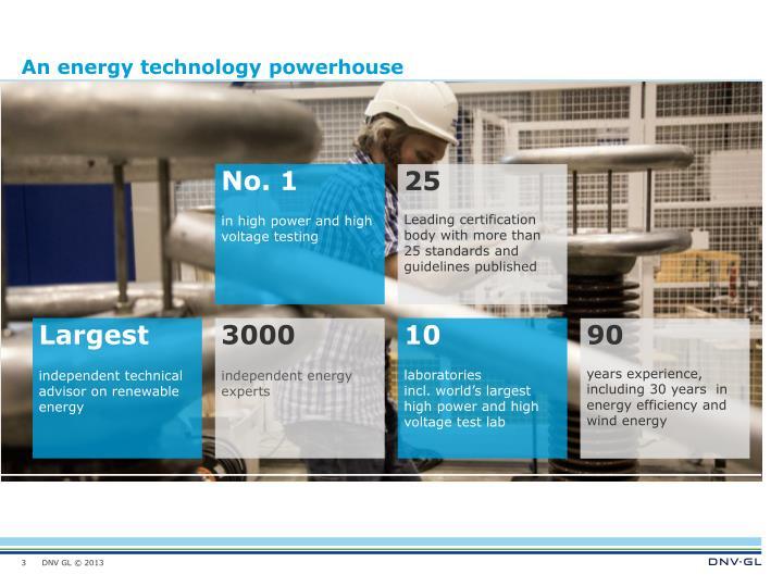 An energy technology powerhouse