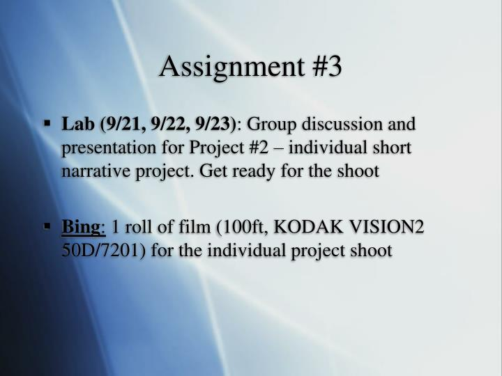 Assignment #3