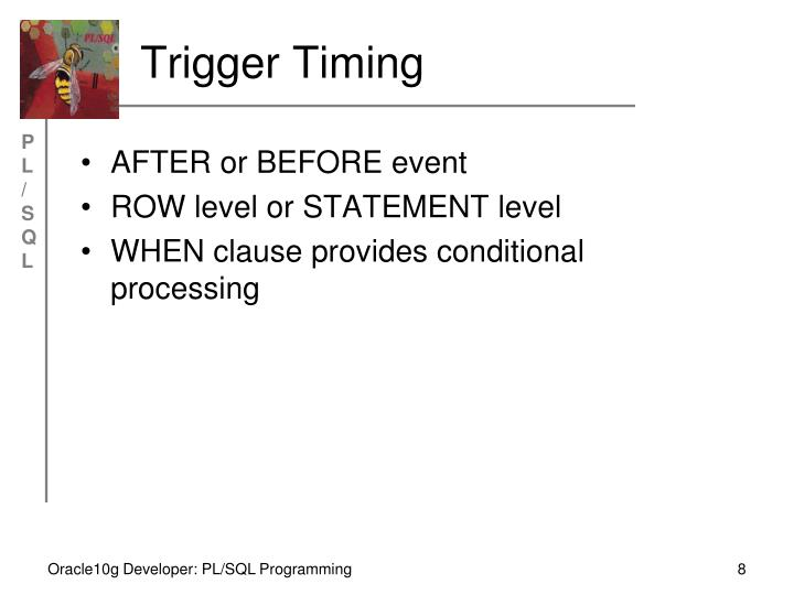 Trigger Timing
